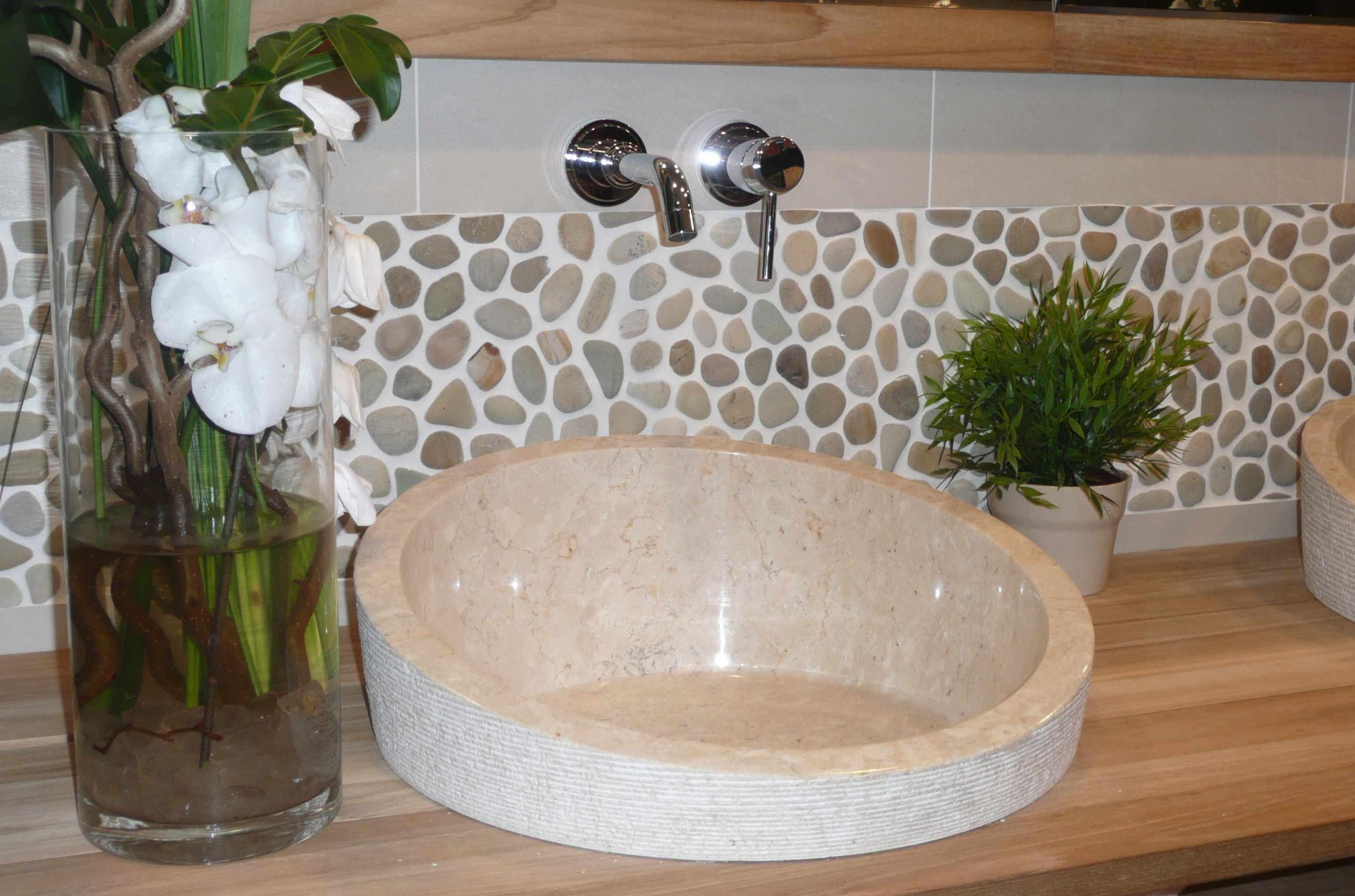 Frise salle de bain adhesive for Miroir zen nature