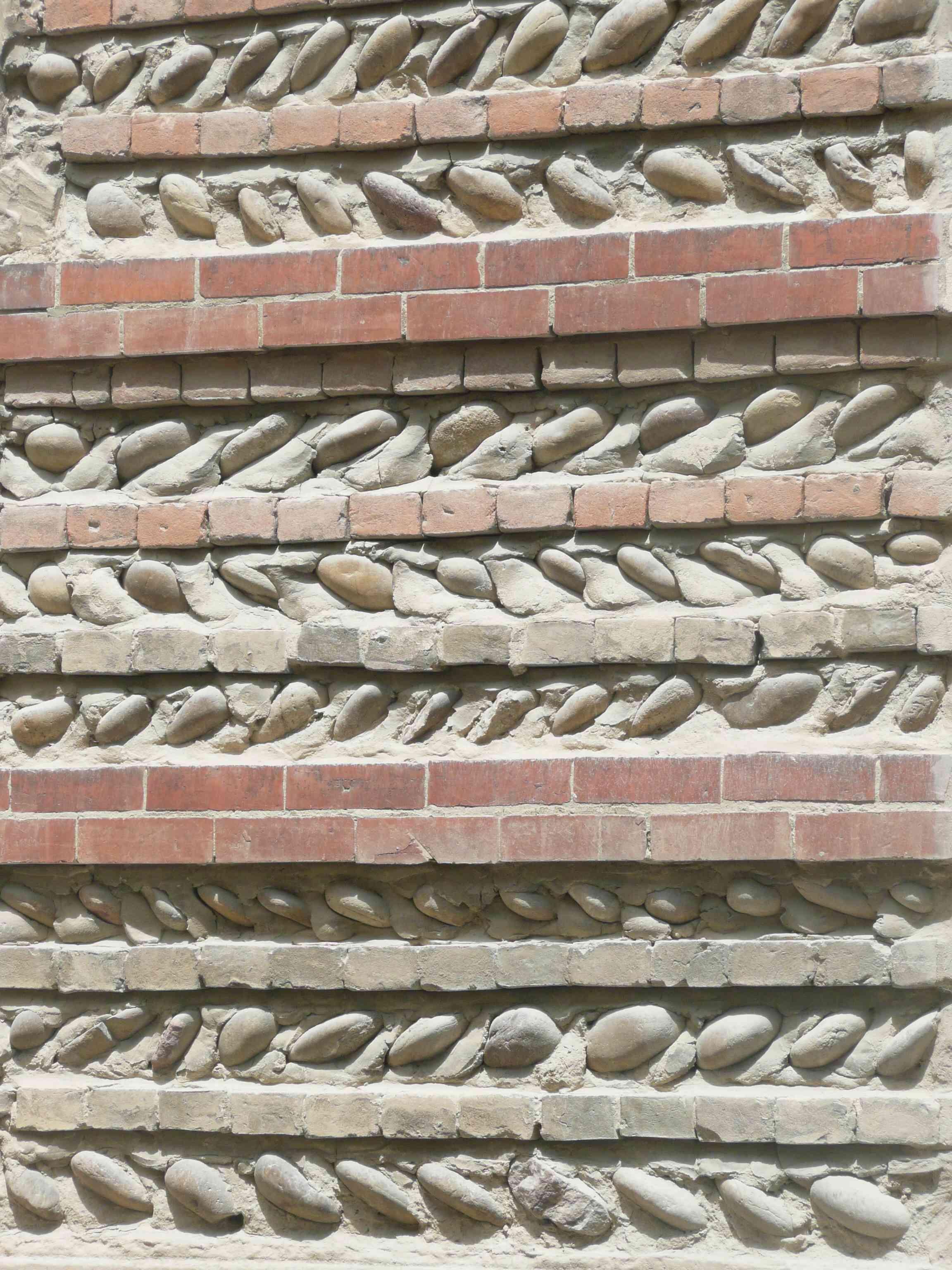 Moras en valloire 2011 mur galets et briques for Mur de galet exterieur