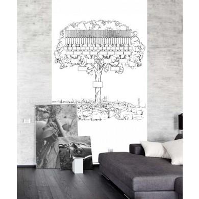 Papier peint arbre genealogique neoDKo