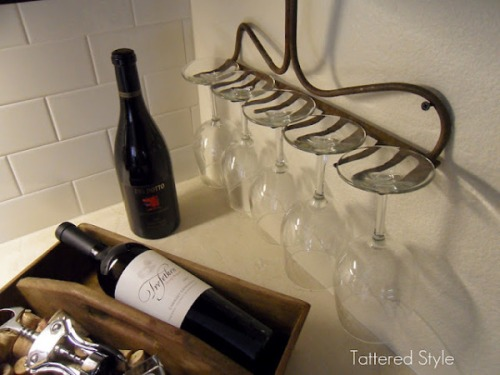 porte-verres rateau Tattered-Style via Deconome