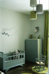 Chambre enfant gris-vert Cote-Maison