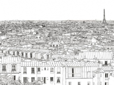 Papier-peint-paris-tour-eiffel-ohmywall