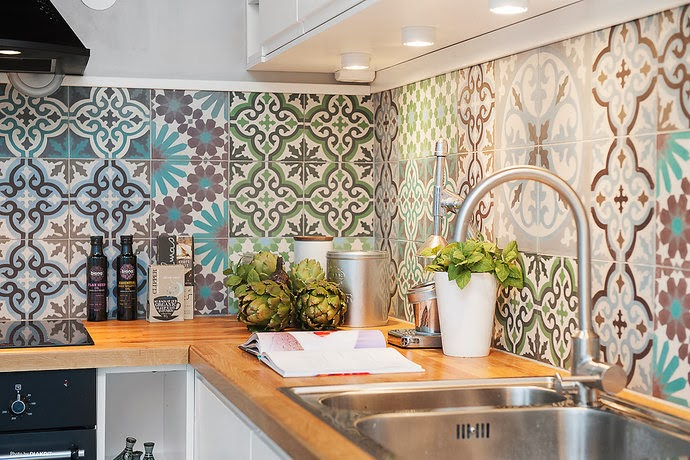 Vloertegels Keuken Portugees : Cement Tile Kitchen Backsplash