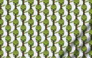 Graphique-textile motif artichauts