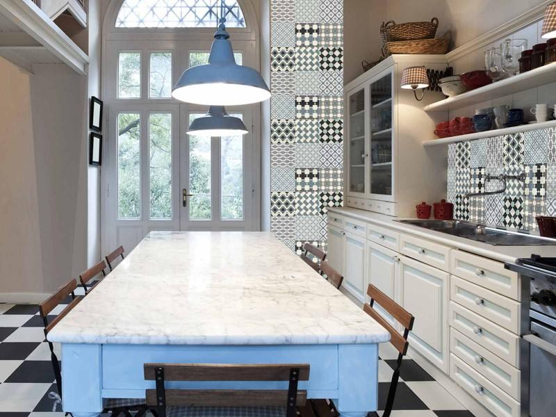 Carreaux De Ciment Cuisine Mur   Carreaux De Ciment Cuisine Mur Elegant Une Crdence En Carreaux De