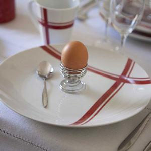 vaisselle torchon carreaux rouges Decoclico