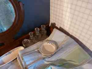 Chambre bleu-vert A-tous-les-etages rideaux-rayes-Toiles-de-mayenne