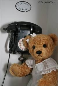 Ours et telephone De-lin-a l-ours