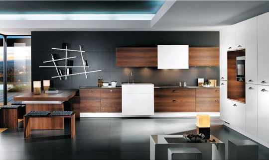cuisine design ouverte avec des id es. Black Bedroom Furniture Sets. Home Design Ideas