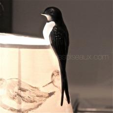 hirondelle deco porcelaine sur abat-jour La-maison-des-oiseaux